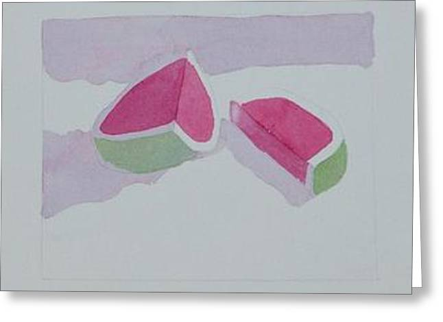 Watermelon Study Greeting Card by Charlotte Hickcox