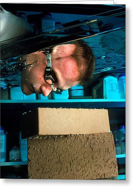 Waterproof Bricks Greeting Card by Volker Steger