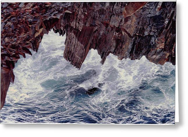 Greeting Card featuring the photograph Water's Fury by Patricia Hiltz
