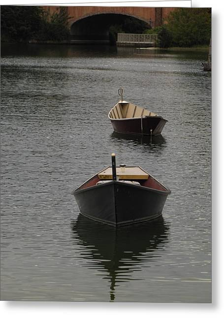 Waterway Boats Greeting Card