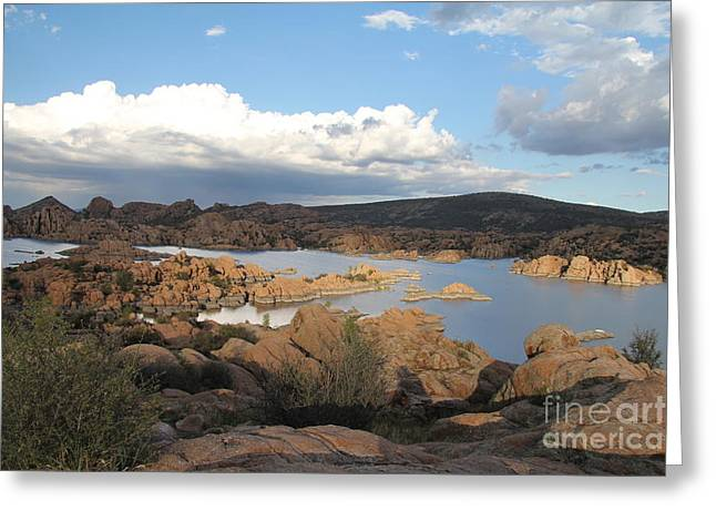 Watson Lake 2 Greeting Card by Diane Greco-Lesser