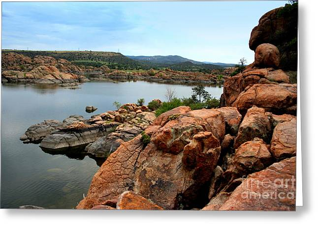 Watson Lake  Greeting Card
