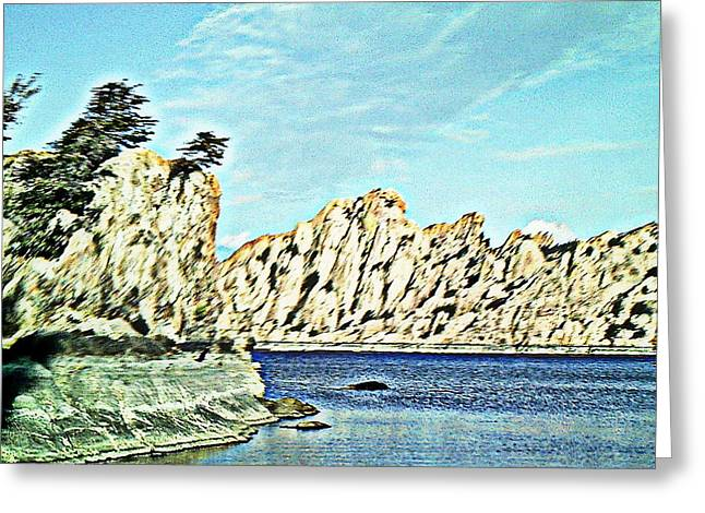 Watson Lake Greeting Card by Lisa Wells