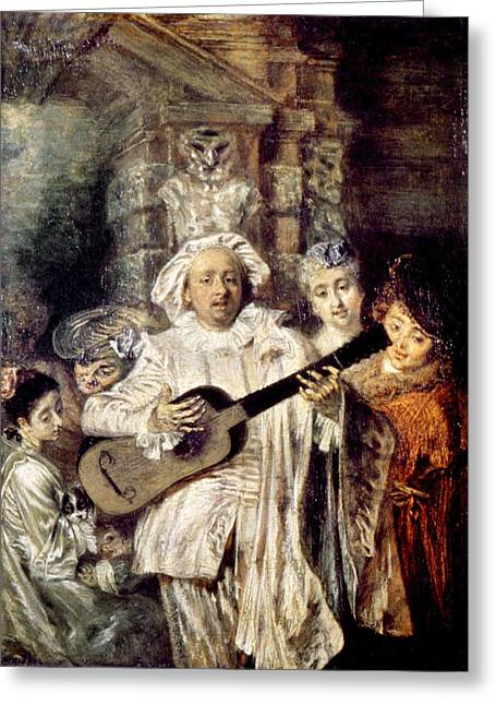 Watteau: Gilles & Family Greeting Card by Granger