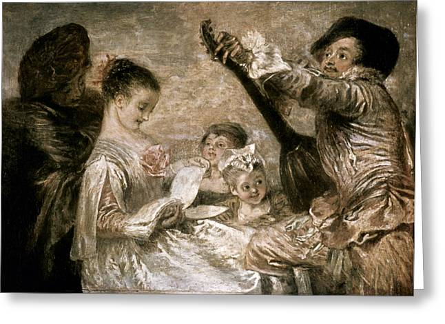 Watteau: Music Greeting Card by Granger