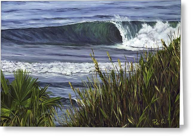 Wave 4 Greeting Card by Lisa Reinhardt