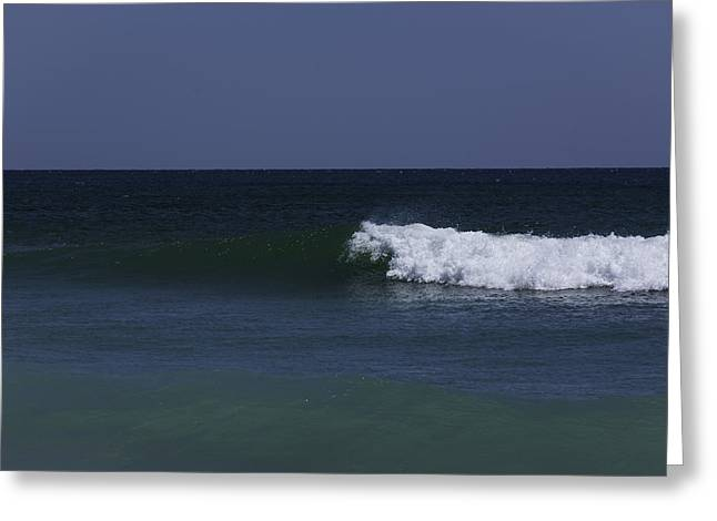Wave Breaking On A Windy Day At Jupiter Beach Greeting Card