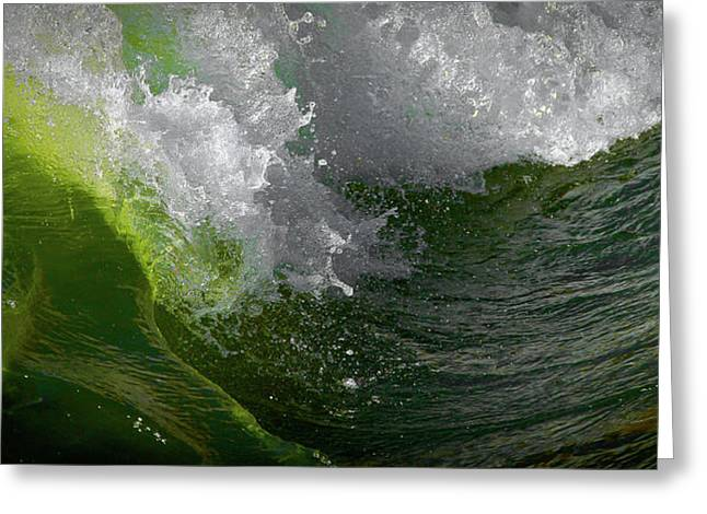 Greeting Card featuring the photograph Wave In Motion by Atom Crawford
