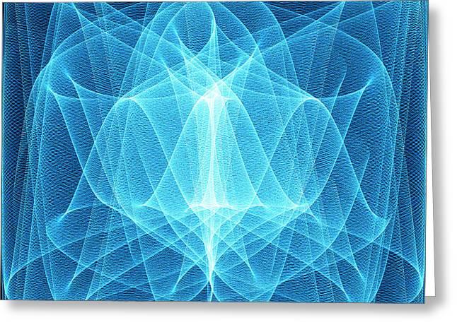 Wave Patterns Greeting Card by Pasieka
