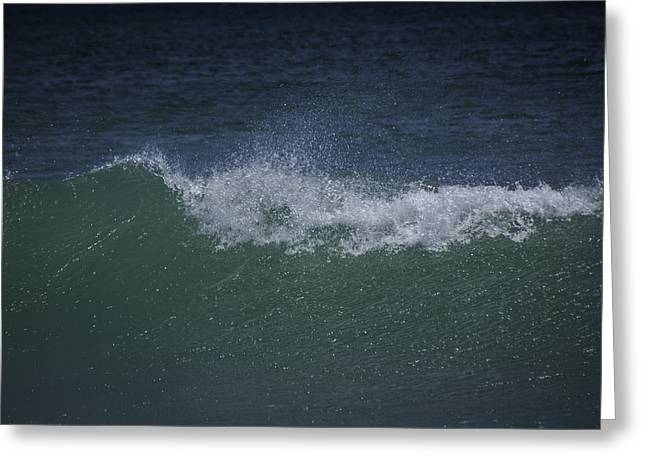 Wave Sprey On A Windy Day At Jupiter Beach Greeting Card
