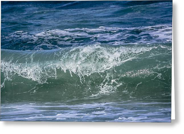 Waves Greeting Card by Andrea  OConnell