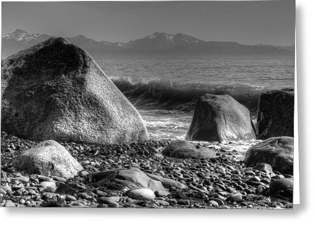 Greeting Card featuring the photograph Waves At Diamond Beach by Michele Cornelius