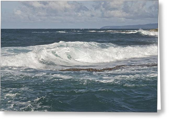 Waves Breaking 7952 Greeting Card by Michael Peychich