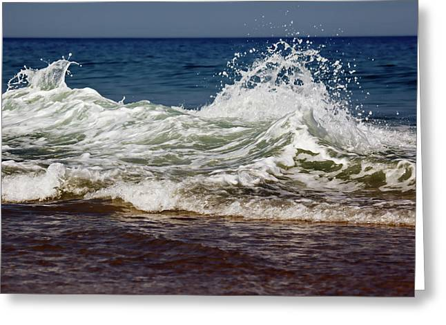 Waves In Motion Greeting Card by Nick  Shirghio
