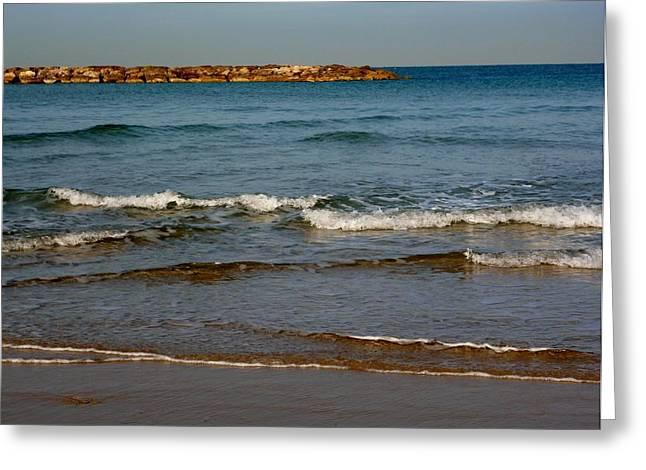 Waves Greeting Card by Jennifer Wartsky