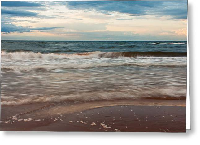 Waves Greeting Card by Matt Dobson