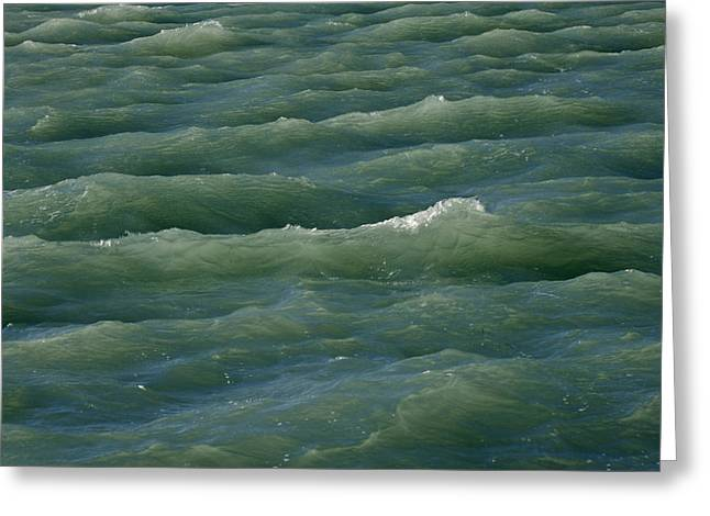 Waves Near Boca Chita Key In Biscayne Greeting Card