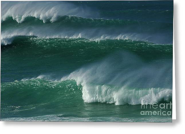 Waves Of Hawaii Greeting Card by Bob Christopher