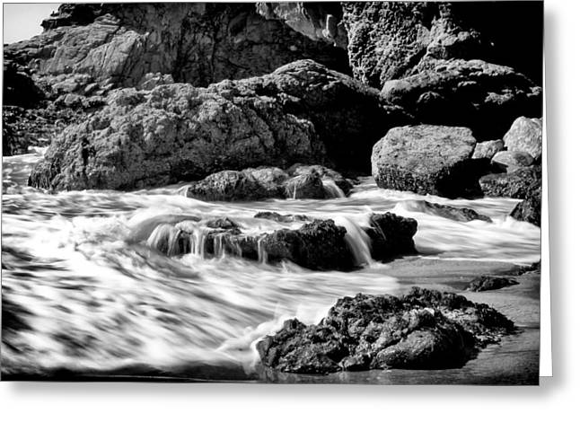 Waves On Leo Carillo State Beach Greeting Card by Ken Wolter