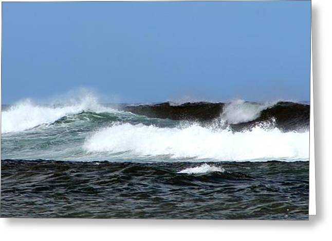 Waves On North Shore Greeting Card by Elizabeth  Doran