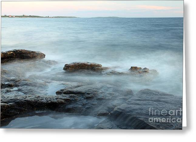 Waves On The Coast Greeting Card by Ted Kinsman