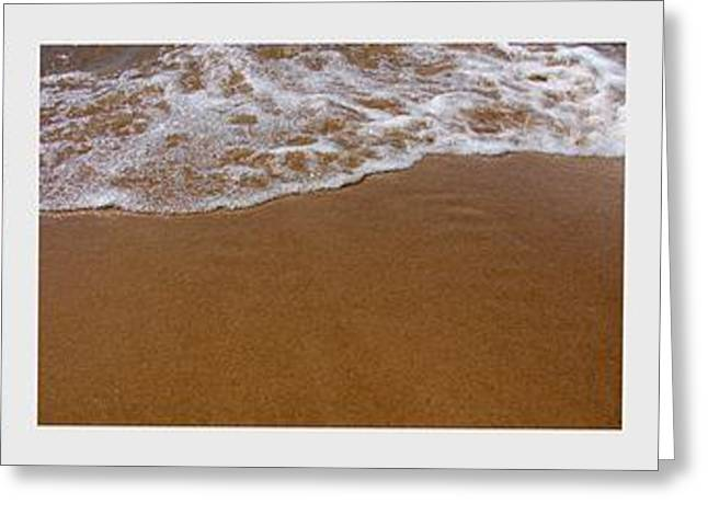 Waves Triptych Greeting Card by Michelle Calkins