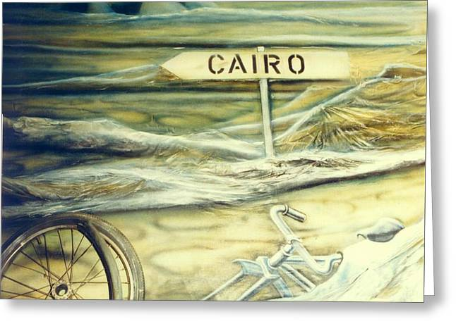 Way To Cairo Greeting Card