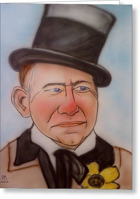 W.c. Fields Greeting Card by Pete Maier