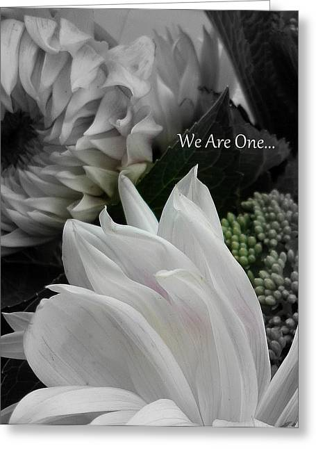 We Are One Greeting Card by Sian Lindemann