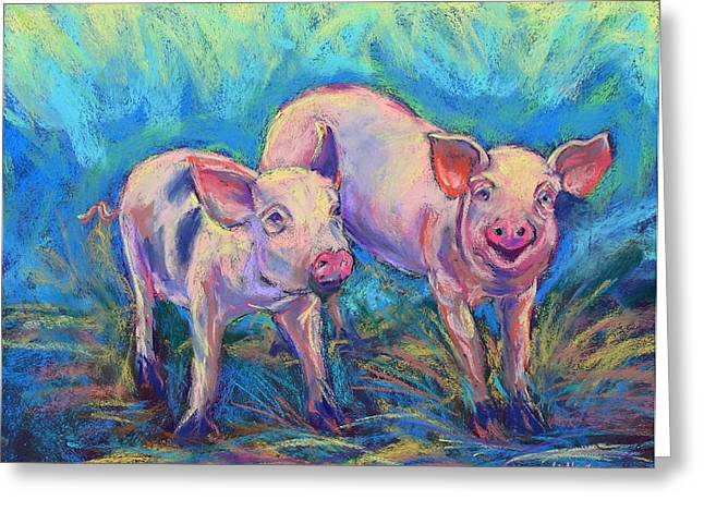 We Won't Be Bacon Greeting Card by Li Newton