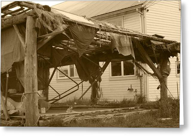 Greeting Card featuring the photograph Weathered And Blown To Pieces by Kym Backland