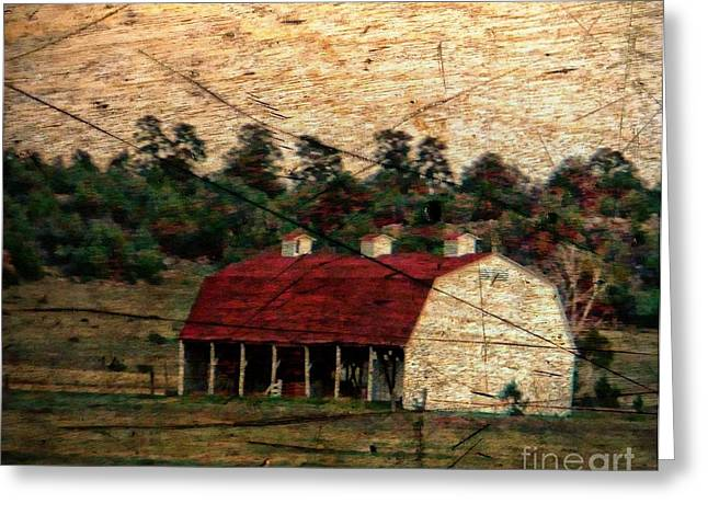 Weathered Barn Greeting Card by Michelle Frizzell-Thompson