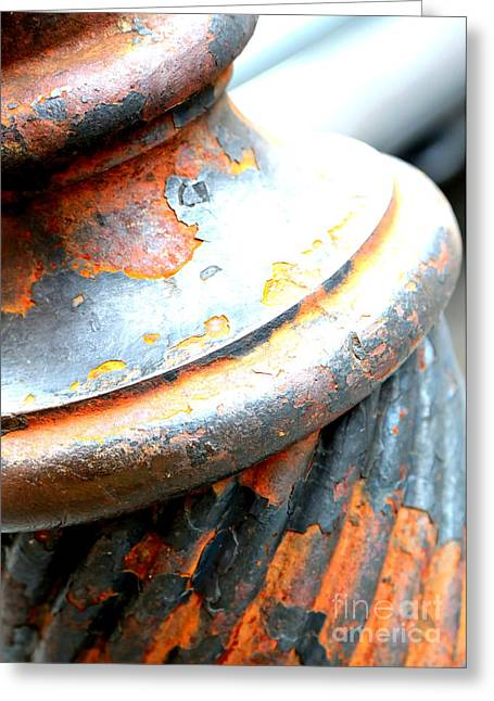 Weathered Column  Greeting Card by Carol Groenen