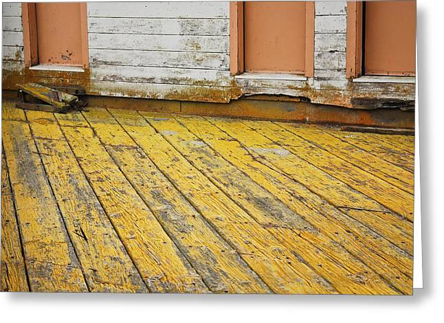 Weathered Monterey Building Greeting Card