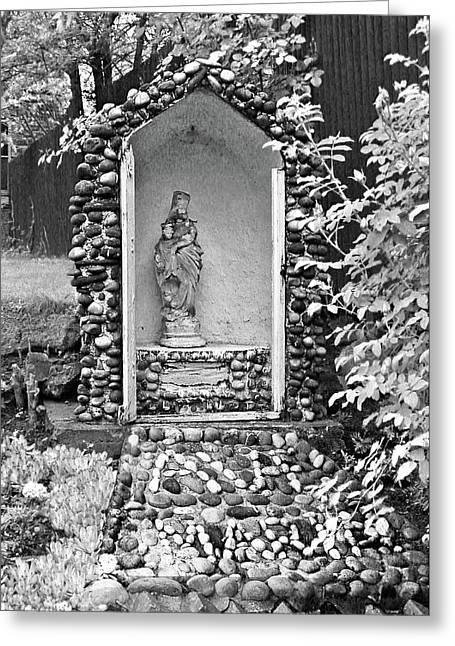 Greeting Card featuring the photograph Weathered Shrine by Donna Proctor