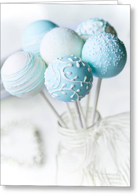 Wedding Cake Pops Greeting Card by Ruth Black