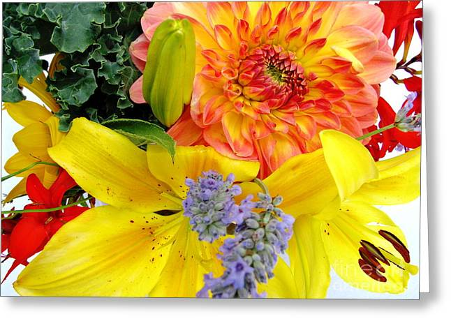 Wedding Flowers Greeting Card by Rory Sagner