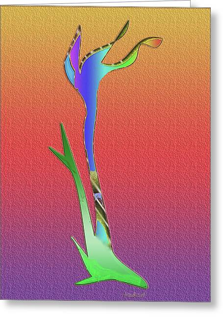 Greeting Card featuring the digital art Weedy by Asok Mukhopadhyay