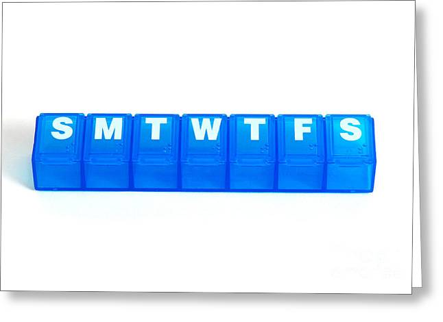 Weekly Pill Box Greeting Card