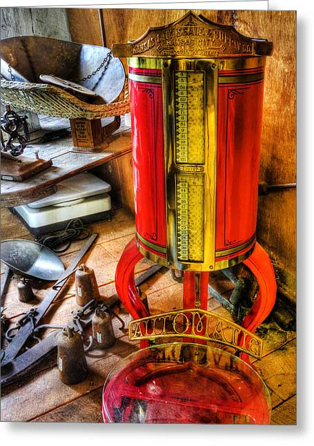 Weigh Your Goods - General Store - Vintage - Nostalgia Greeting Card by Lee Dos Santos