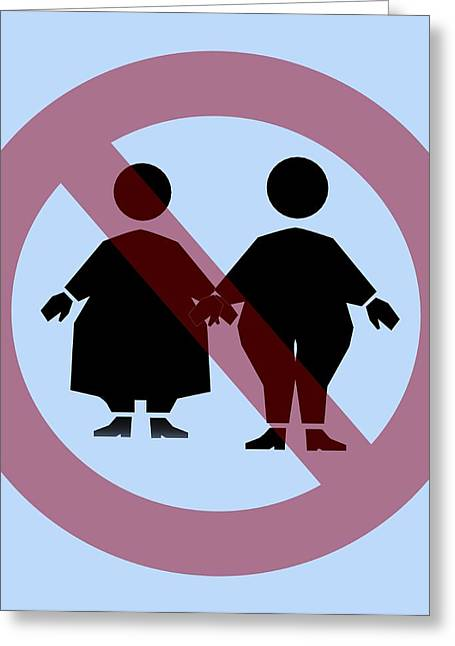 Weight Discrimination, Computer Artwork Greeting Card by Christian Darkin