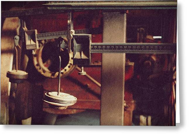 Weights And Measures Greeting Card by Steven Milner