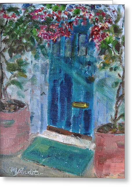 Greeting Card featuring the painting Welcome Home by MaryAnne Ardito