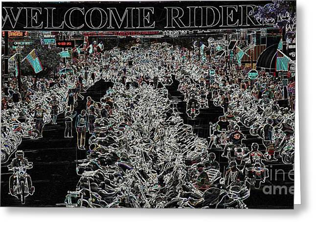 Welcome Riders Greeting Card