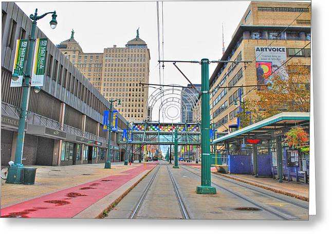 Greeting Card featuring the photograph Welcome To Dt Buffalo by Michael Frank Jr