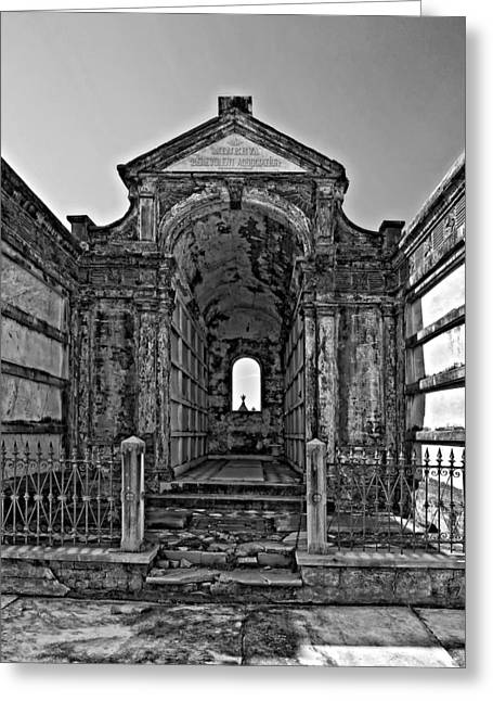 Welcome To Eternity Monochrome Greeting Card