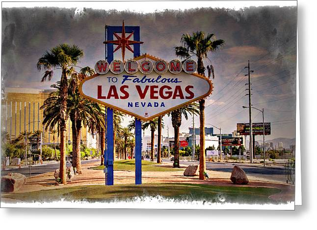 Welcome To Las Vegas Sign Series Impressions Greeting Card by Ricky Barnard