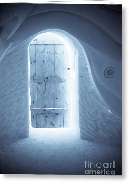 Welcome To The Ice Hotel Greeting Card by Sophie Vigneault