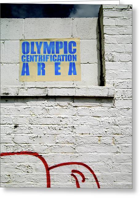 Greeting Card featuring the photograph Welcome To The Olympics by Jez C Self