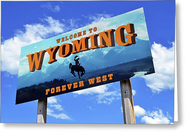 Welcome To The West Greeting Card